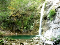 The waterfalls in Iliochori